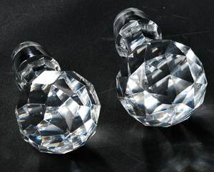 Set of Boston and Sandwich Cut Glass Decanters