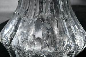 Two Etched Cut Glass Decanters