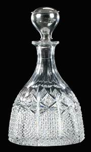 Cut Glass Hawkes Decanter