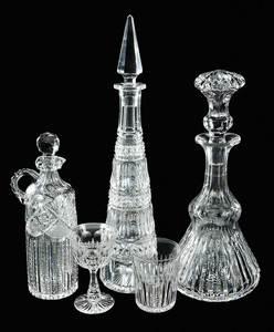 Five Pieces of Cut Glass, J. Hoare, Dorflinger