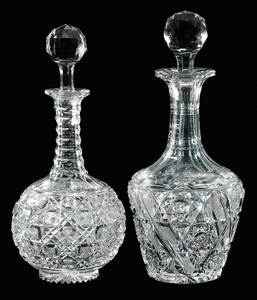 Two Cut Glass Decanters, Egginton