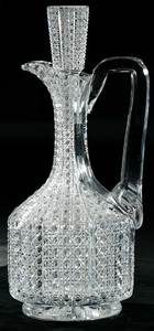 Cut Glass Handled Decanter, Maple City