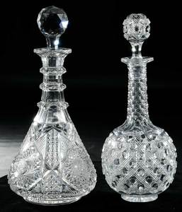 Two Cut Glass Decanters