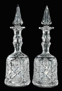 Pair Cut Glass Kelly & Steinman Decanters