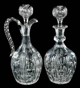 Pair Cut Glass Pairpoint Decanters