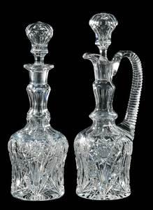 Pair Quaker City Cut Glass Decanters