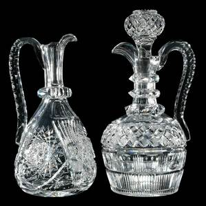 Two Handled Cut Glass Decanters