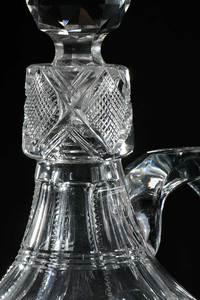 Cut Glass Whiskey Jugs, Stem Dorflinger Fry