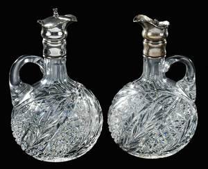 Two Cut Glass J Hoare Whiskey Jugs