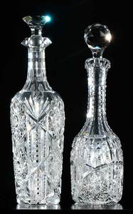 Two Libbey Cut Glass Decanters