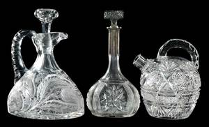 Three Cut Glass Decanters, Shotten