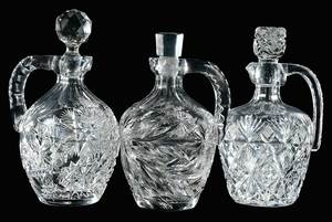 Cut Glass Whiskey Jugs Libbey, Anderson, Hawkes