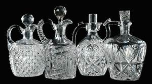 Four Cut Glass Whiskey Decanters
