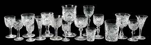 17 Cut Glass Stems/Tumblers Various Patterns
