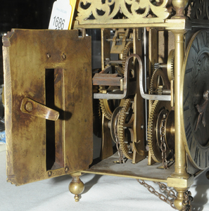 William III Winged Lantern Clock by Abell Cottey