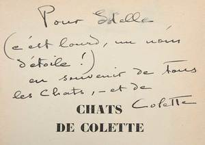 16 Assorted Books, Inscribed [Chats de Collette]