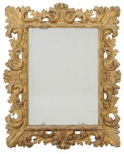 Italian Baroque Carved and Gilt Wood Mirror