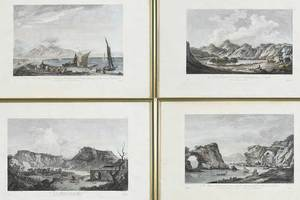 Four French Engravings, Neapolitan Views