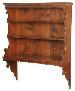 American Chippendale Pine Hanging Shelf