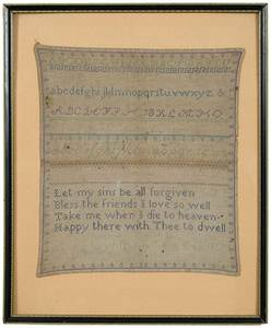 Alphabet and Verse Needlework