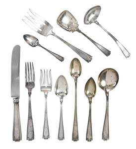 Gorham Etruscan Sterling Flatware, 91 Pieces