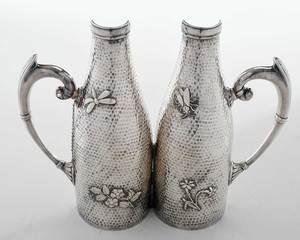 Silver-Plate Wine Bottle Holder