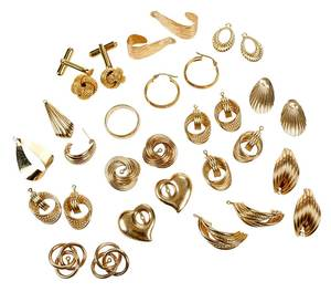 Group Assorted Gold Jewelry