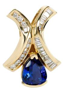 14kt. Tanzanite and Diamond Pendant