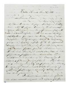 1865 Letter Freeman's Bureau (Reconstruction)