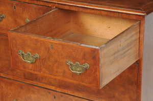 William and Mary Style Burlwood Chest