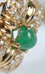 14kt. Diamond & Emerald Earrings