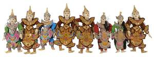 Eight [Yoke Thé] Marionette Puppets