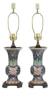 Pair Chinese Famille Verte Yen Yen Vases