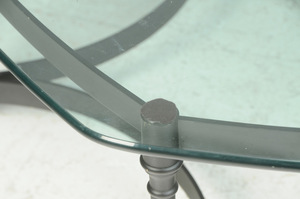 Italian Neoclassical Style Glass Top Low Table