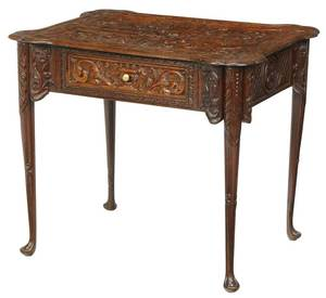 Provincial Louis XV Carved Oak Table
