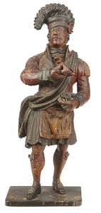 Fine and Rare Carved Tobacconist's Figure