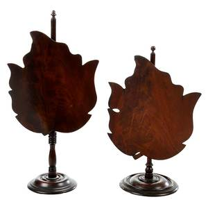 Two Leaf Form Table Top Fire Screens