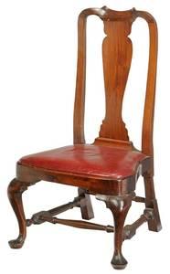 New England Queen Anne Walnut Slipper Chair
