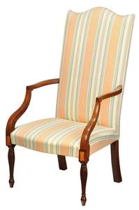 Fine Federal Inlaid Mahogany Lolling Chair