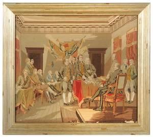 Framed Needlework, Declaration of Independence