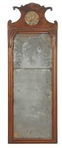 Queen Anne Walnut Parcel Gilt Mirror