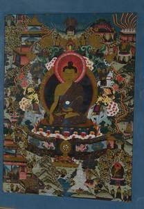 Tibetan Thanka of Seated Buddha