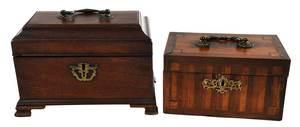 Two Early British Tea Caddies