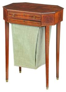 New England Federal Inlaid Mahogany Work Table
