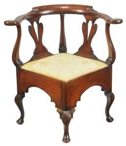 Pennsylvania Queen Anne Walnut Corner Chair