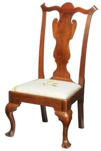 Pennsylvania Chippendale Walnut Slipper Chair