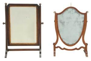 Two Period Mahogany Tabletop Mirrors
