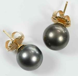 18kt. Gold Pearl Necklace and Earrings
