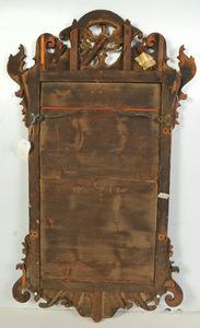 Chippendale Mahogany Parcel Gilt Mirror