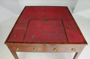 Rare Federal Inlaid Mahogany Architect's Table